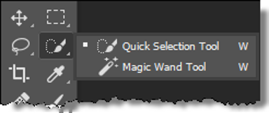 The Quick Selection Tool Menu