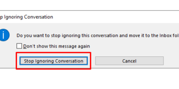 Adding conversation to your inbox in outlook 365