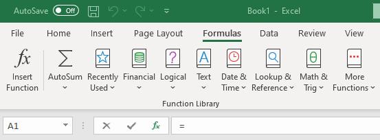 Shows the function taskbar